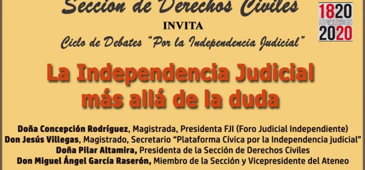 Cine y Derecho en Ateneo: Independencia Judicial, por Concepción Rodríguez, presidenta FJI