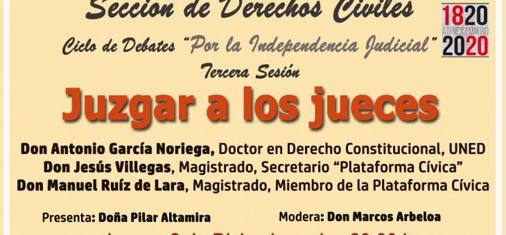 JUZGAR A LOS JUECES: coloquio Cine y Derecho (Ateneo Madrid)