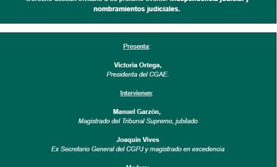 Coloquio nombramientos judiciales (CGAE, 10/12/19, Madrid, 19:00)