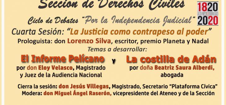 Justicia y Poder (Coloquio Eloy Velasco, Beatriz Saura, Lorenzo Silva) /15/01/2020