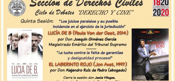 Cine y Derecho: juicios paralelos (Ateneo, Madrid, 24-II-2020)